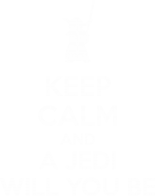 Принт Майка-тельняшка KEEP CALM and Jedi will you be - FatLine