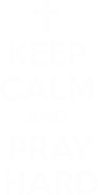 Принт Толстовка KEEP CALM and PRAY HARD - FatLine