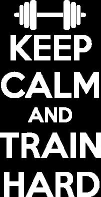 Принт Женская футболка с V-образным вырезом KEEP CALM and TRAIN HARD - FatLine