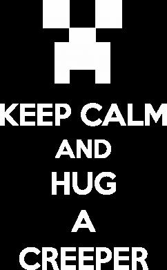 Принт Женская толстовка KEEP CALM and HUG A CREEPER - FatLine