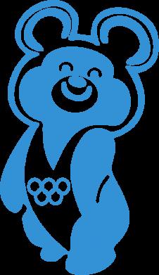 Принт Кружка 320ml Олимпийский Мишка - FatLine