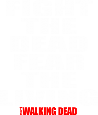 Принт Реглан (свитшот) Fight the dead fear the living - FatLine