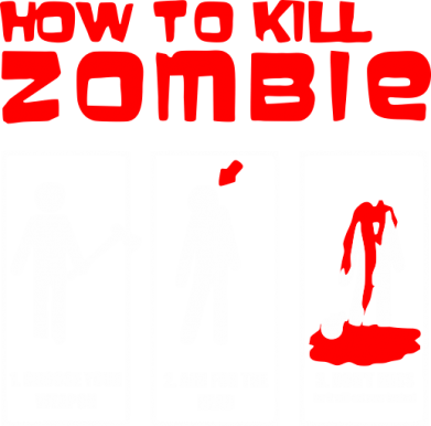 Принт Толстовка How to kill zombie - FatLine