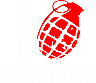 Принт Шапка I love zombies - FatLine