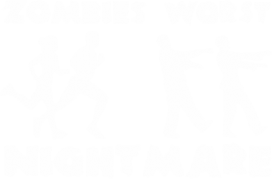 Принт Футболка Поло Zombies the worst night mare - FatLine