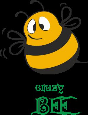 Принт Мужская футболка  с V-образным вырезом Crazy Bee - FatLine