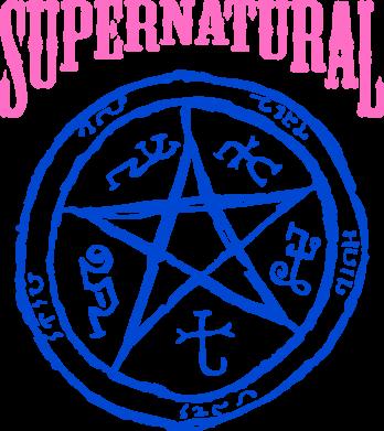 Принт Кружка 320ml Supernatural круг - FatLine
