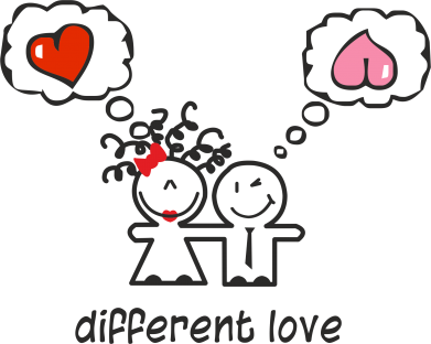 Принт Фартук Different Love - FatLine