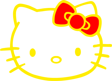 Принт Толстовка Hello Kitty logo - FatLine