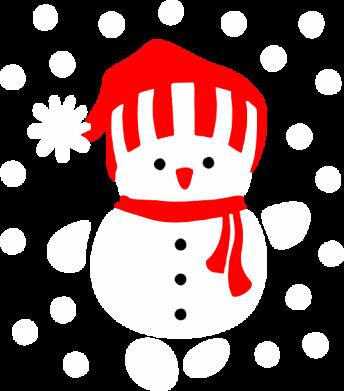 Принт Толстовка Снеговик в шапке - FatLine