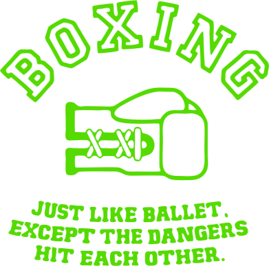 Принт Реглан (свитшот) Boxing just like ballet - FatLine