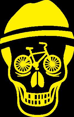 Принт Футболка Поло Череп велосипедиста - FatLine