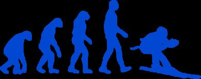 Принт Коврик для мыши Ski evolution - FatLine