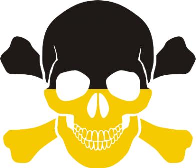 Принт Фартук Двокольоровий череп - FatLine
