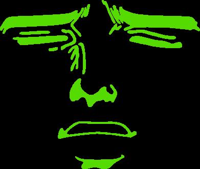 Принт Женская футболка Лицо аниме - FatLine