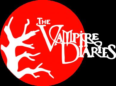 Принт Женская футболка с V-образным вырезом The Vampire Diaries - FatLine