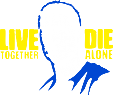 Принт Реглан Live together, die alone (Lost) - FatLine