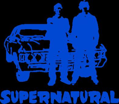 Принт Женская футболка Supernatural Братья Винчестеры - FatLine