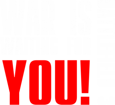 Принт Футболка Поло War is waiting for you! - FatLine