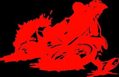 Принт Кружка 320ml Мотокросс лого - FatLine