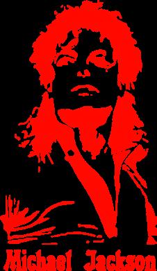 Принт Мужская майка Майкл Джексон - FatLine