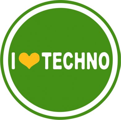 Принт Сумка I love techno music - FatLine
