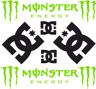 Принт Штаны Monster Energy DC Logo - FatLine