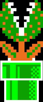 Принт Мужская футболка  с V-образным вырезом Цветок-людоед Супер Марио - FatLine