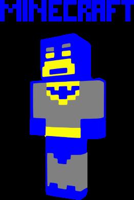 Принт Женская футболка Minecraft Batman - FatLine