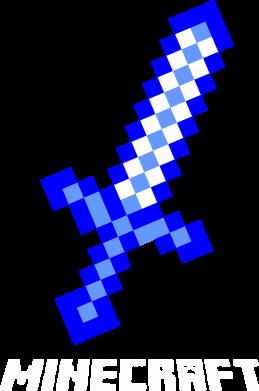 Принт Тельняшка с длинным рукавом Меч Minecraft - FatLine