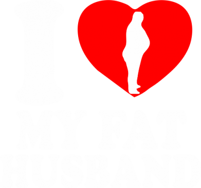 Принт Штаны I love my fat husband - FatLine