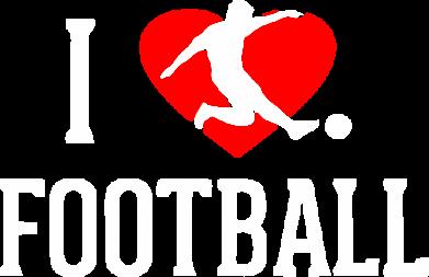 Принт Майка-тельняшка I love football - FatLine