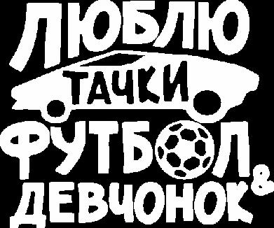 Принт Мужская толстовка на молнии Люблю тачки, футбол и девченок! - FatLine