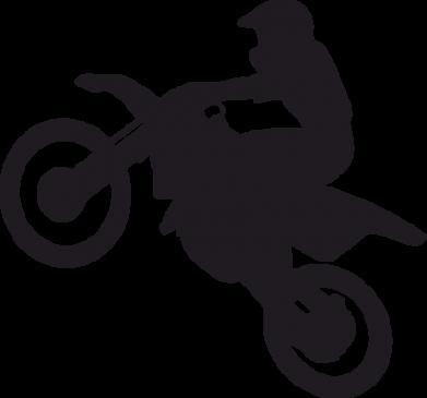Принт Фартук Кроссовый мотоцикл - FatLine