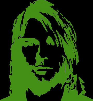 Принт Женская майка Портрет Курта Кобейна - FatLine
