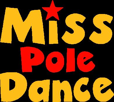 Принт Женская футболка с V-образным вырезом Miss Pole Dance - FatLine