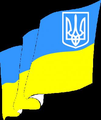 Принт Женская футболка поло Флаг Украины с Гербом - FatLine