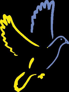 Принт Мужская толстовка на молнии Голуб миру - FatLine