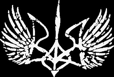 Принт Мужская толстовка на молнии Герб з крилами - FatLine
