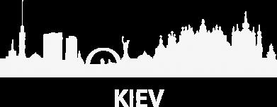Принт Мужская футболка  с V-образным вырезом KIEV - FatLine