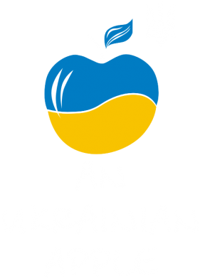 Принт Майка-тельняшка An Ukrainian apple c гербом - FatLine