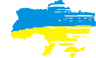 Принт Женская футболка Карта України з написом Ukraine - FatLine
