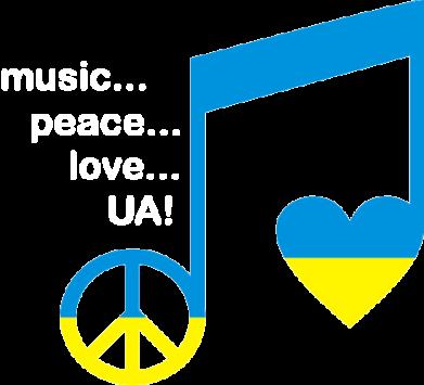 Принт Футболка Поло Music, peace, love UA - FatLine