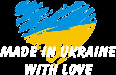Принт Мужская футболка  с V-образным вырезом Made in Ukraine with Love - FatLine