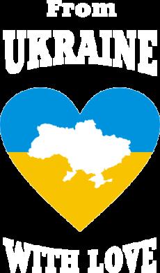 Принт Футболка с длинным рукавом З України з любовью - FatLine