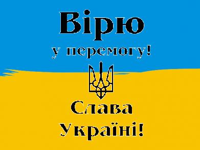 Принт Детская футболка Вірю у перемогу! Слава Україні! - FatLine