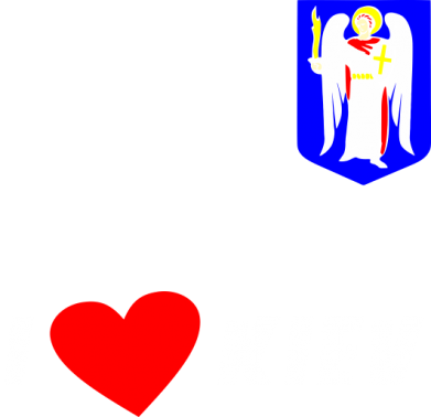 Принт Футболка Поло I love Kiev - FatLine