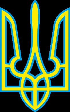 Принт Мужская толстовка на молнии Герб України (двокольоровий) - FatLine
