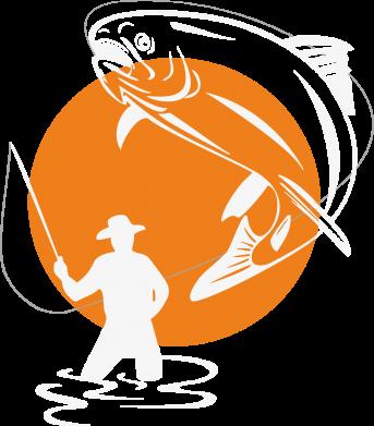 Принт Реглан (свитшот) Рыбак на фоне солнца - FatLine