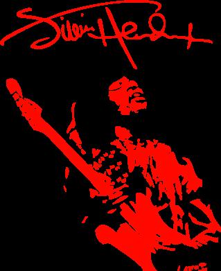 Принт Подушка Jimi Hendrix афтограф - FatLine